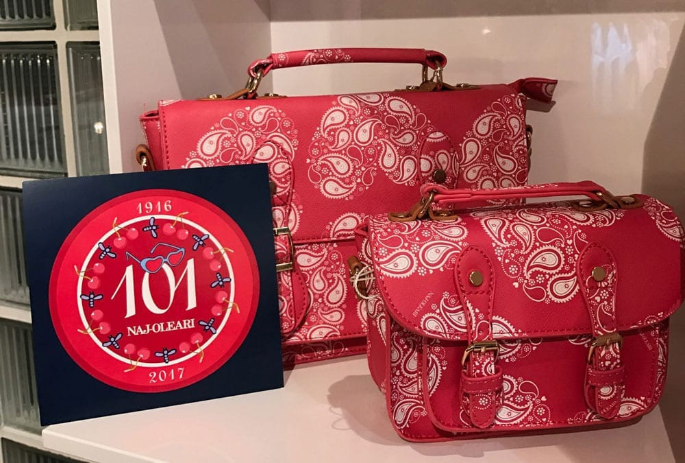 Festa anniversario 101 anni Naj-Oleari, esposizione borse